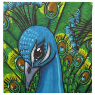 Proud Peafowl illustration Napkin