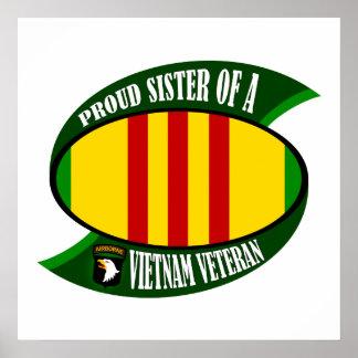 Proud Sister - Vietnam Vet Poster