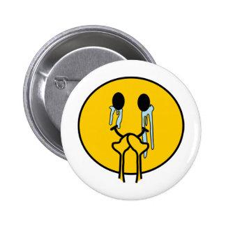 Proud smiley 6 cm round badge
