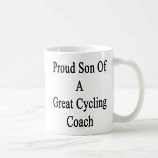 Proud Son Of A Great Cycling Coach Basic White Mug