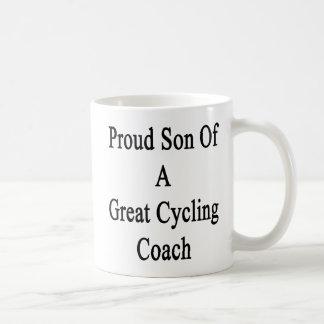 Proud Son Of A Great Cycling Coach Basic White Mug