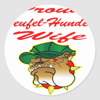 Proud Teufel-Hunden Wife Classic Round Sticker