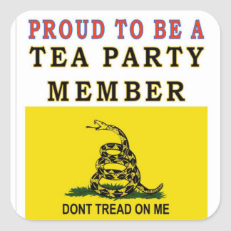 PROUD TO BE A TEA PARTY MEMBER STICKER