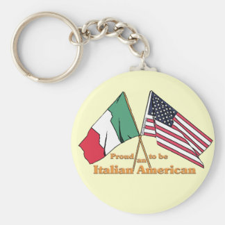 Proud To Be An Italian-American Basic Round Button Key Ring