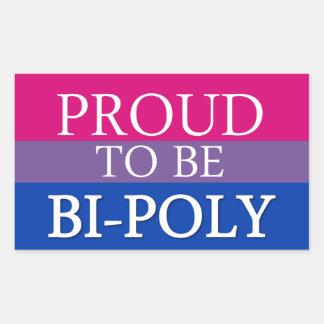 Proud To Be Bi-Poly Rectangular Sticker