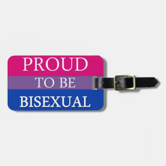 Proud To Be Bisexual Luggage Tag