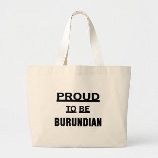 Proud to be Burundian Large Tote Bag