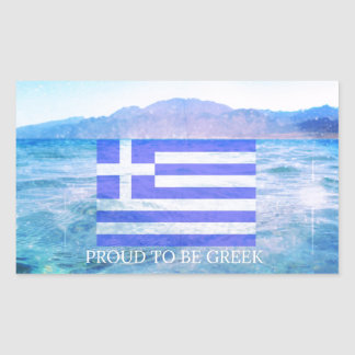 Proud to be Greek Rectangular Sticker