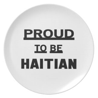 Proud to be Haitian Plate
