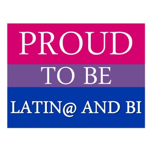 Proud to be Latin@ and Bi Postcard
