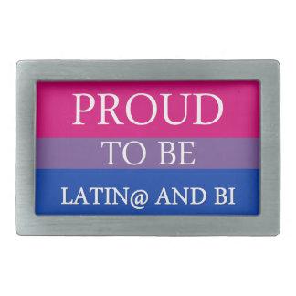 Proud to be Latin@ and Bi Rectangular Belt Buckle