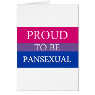 Proud to Be Pansexual Card