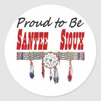 Proud To Be Santee Sioux Decals or Stickers