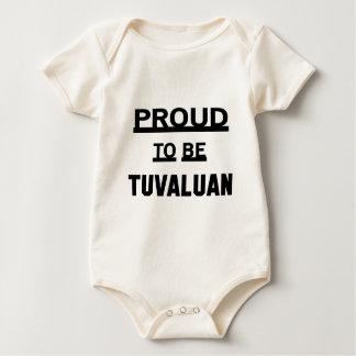 Proud to be Tuvaluan Baby Bodysuit