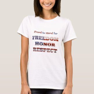 Proud to stand for the American Flag T-Shirt
