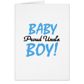 Proud Uncle Baby Boy T-shirts and Gifts Greeting Card