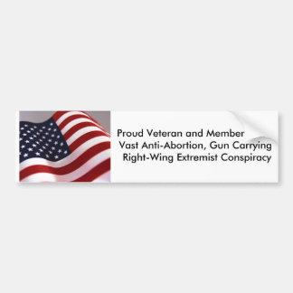 Proud Veteran and Member of Bumper Stickers