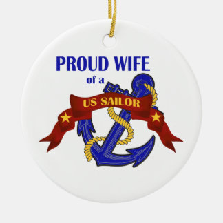 Proud Wife of a US Sailor Ornament