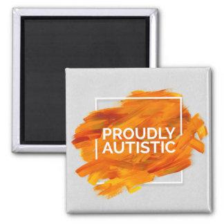 Proudly Autistic (Orange) Magnet