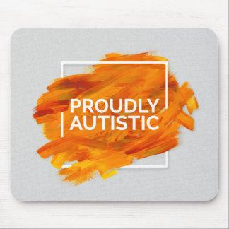 Proudly Autistic (Orange) Mouse Pad
