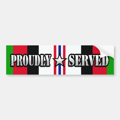Proudly Served / Operation Enduring Freedom Bumper Stickers