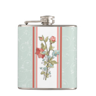 Provence Floral Hip Flask