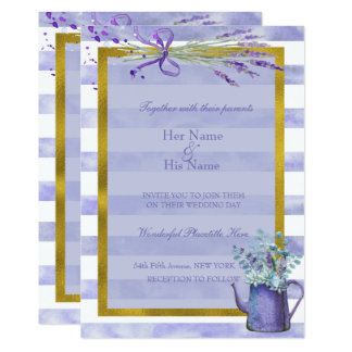 Provence Lavender Purple Flower Wedding Card