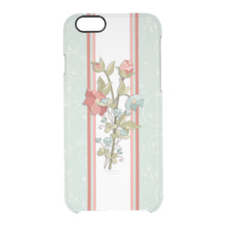 Provence Style Floral Clear iPhone 6/6S Case