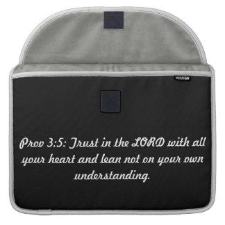 "Proverbs 3:5 MacBook Pro 15"" Sleeve Sleeve For MacBooks"