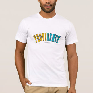 Providence in Rhode Island state flag colors T-Shirt