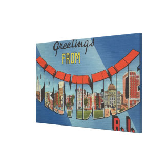 Providence, Rhode Island - Large Letter Scenes 2 Canvas Print