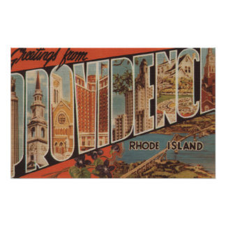 Providence, Rhode Island - Large Letter Scenes 2 Posters