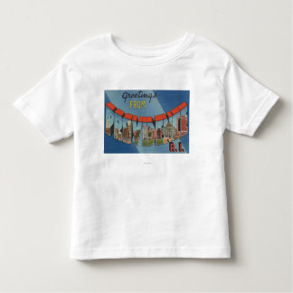 Providence, Rhode Island - Large Letter Scenes Toddler T-Shirt