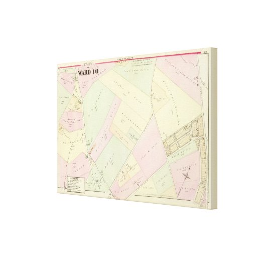 Providence Rhode Island Map 2 Canvas Prints