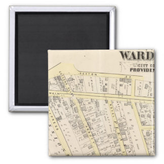 Providence Rhode Island Map 2 Square Magnet