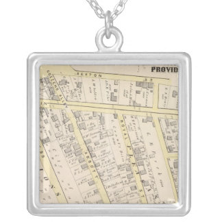 Providence Rhode Island Map 2 Square Pendant Necklace