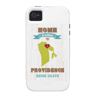 Providence, Rhode Island Map – Home Is Where Case-Mate iPhone 4 Cases