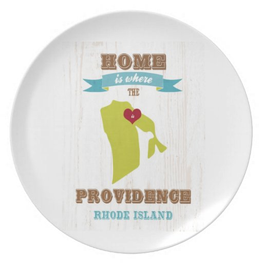 Providence, Rhode Island Map – Home Is Where Party Plate