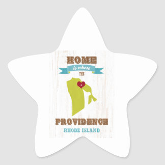 Providence, Rhode Island Map – Home Is Where Star Sticker