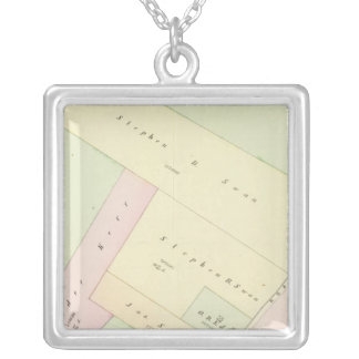 Providence Rhode Island Map Square Pendant Necklace
