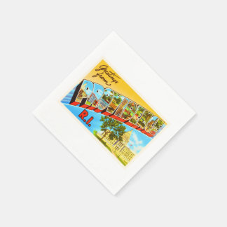 Providence Rhode Island RI Vintage Travel Souvenir Disposable Napkins