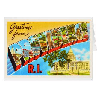 Providence Rhode Island RI Vintage Travel Souvenir Greeting Card