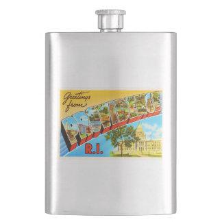 Providence Rhode Island RI Vintage Travel Souvenir Hip Flask