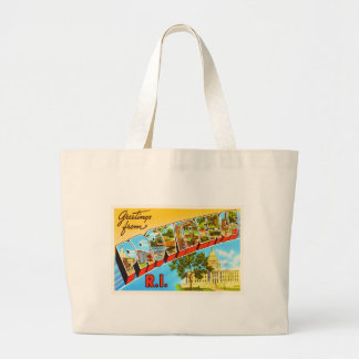 Providence Rhode Island RI Vintage Travel Souvenir Jumbo Tote Bag