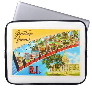 Providence Rhode Island RI Vintage Travel Souvenir Laptop Sleeve