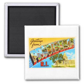 Providence Rhode Island RI Vintage Travel Souvenir Square Magnet