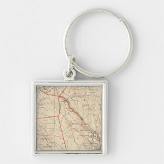 Providence, Rhode Island Silver-Colored Square Key Ring