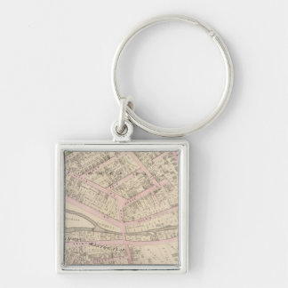Providence Rhode Island Silver-Colored Square Key Ring