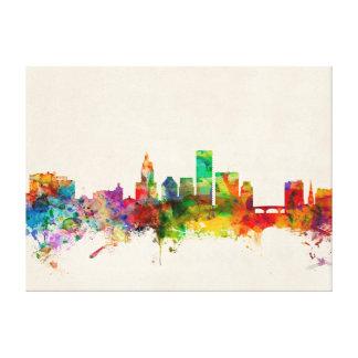 Providence Rhode Island Skyline Cityscape Canvas Print