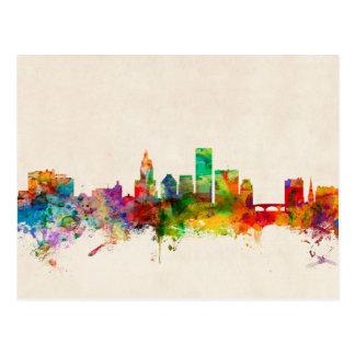 Providence Rhode Island Skyline Cityscape Post Cards